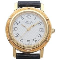 HERMES Clipper quartz Womens watch CL4.285 black