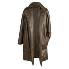 Hermes Coat Lamb Leather Taupe Sleek Subtle Wadding Detachable Collar 38