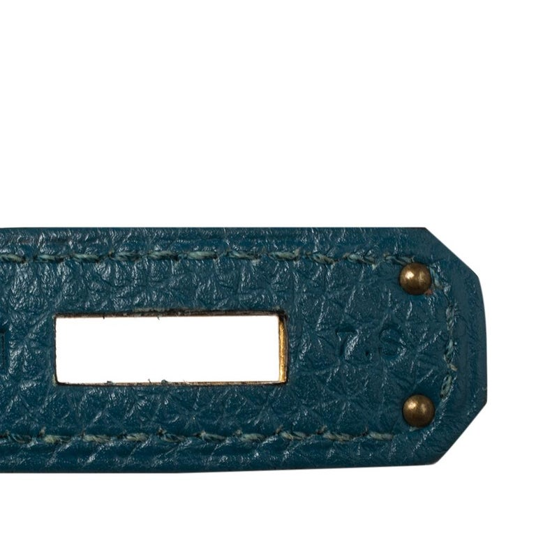 Hermes Cobalt Togo Leather Gold Hardware Kelly Retourne 35 Bag For Sale 1