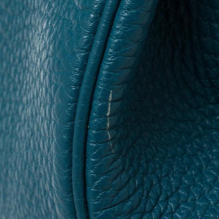 Hermes Cobalt Togo Leather Gold Hardware Kelly Retourne 35 Bag For Sale 4