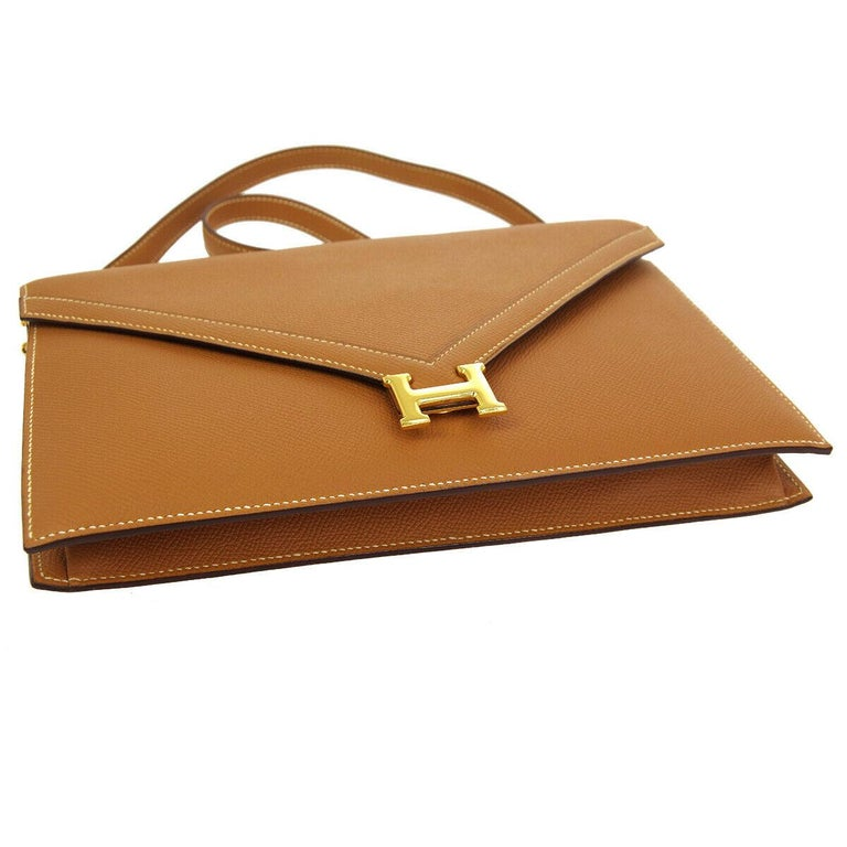 Women's Hermes Cognac Leather Gold 'H