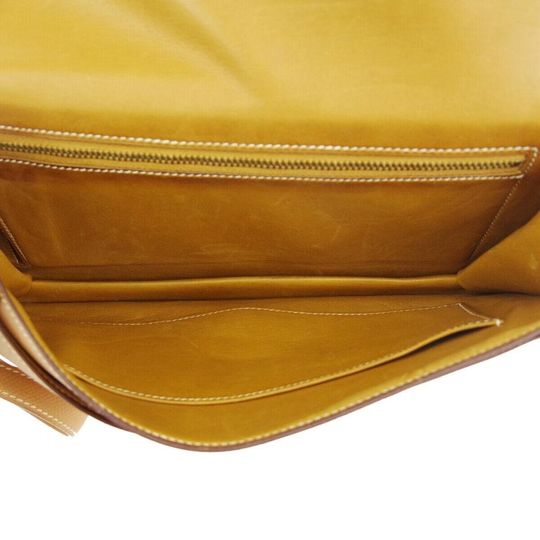 Hermes Cognac Leather Gold 'H