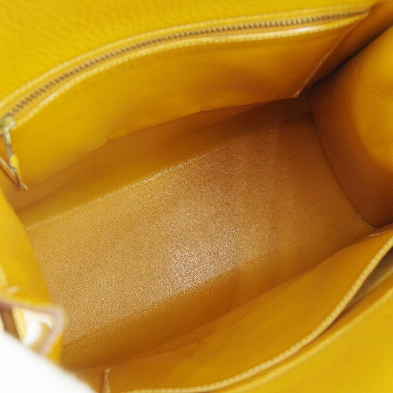 Hermes Cognac Leather Gold Kelly Crossbody Shoulder Bag For Sale 1