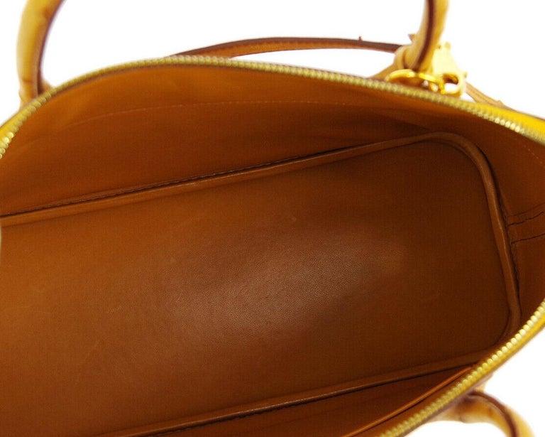 Hermes Cognac Ostrich Exotic Gold Top Handle Satchel Shoulder Tote Bag For Sale 1