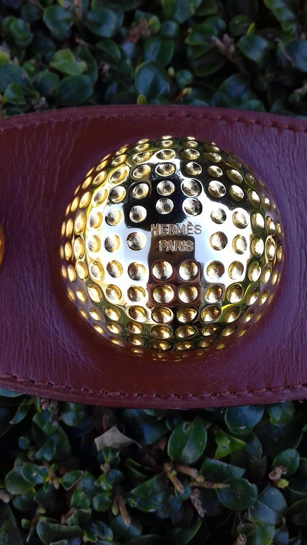 Hermès Vintage Ornament for Hermès Skirt Golf Pattern Hdw Brown Leather For Sale 9