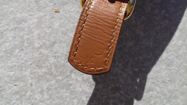 Hermès Vintage Ornament for Hermès Skirt Golf Pattern Hdw Brown Leather For Sale 5