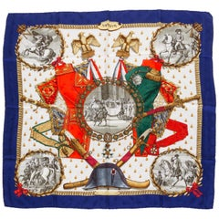 Hermès Collectible Blue Napoleon Scarf