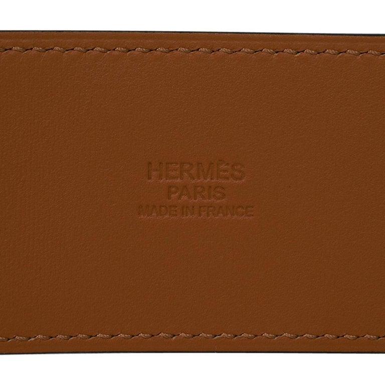 Hermes Collier De Chien Belt Black Box w/ Gold Hardware 75 New For Sale 6