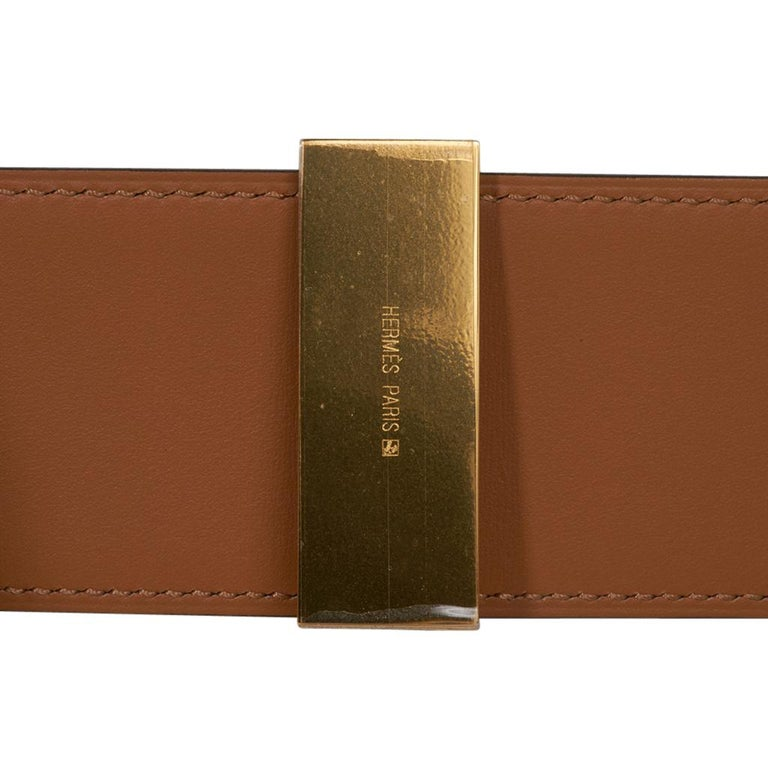 Hermes Collier De Chien Belt Black Box w/ Gold Hardware 75 New For Sale 4