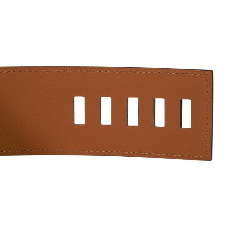 Hermes Collier De Chien Belt Black Box w/ Gold Hardware 75 New For Sale 5