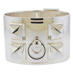 Hermes Collier de Chien Silver Bracelet