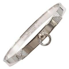 Hermès 'Collier de Chien' White Gold Bracelet, Small Model