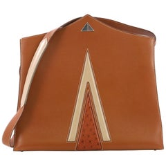 Hermes Comete Tote Courchevel with Ostrich Medium