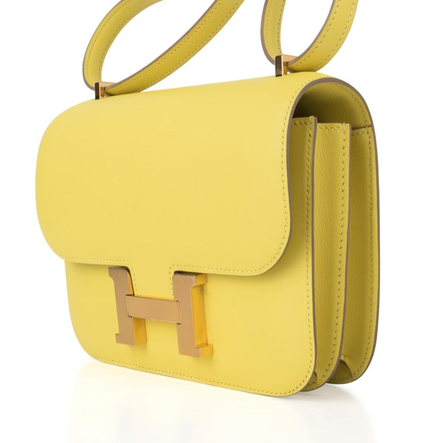 491891d35ead Hermes Constance 18 Bag Lime Swift Gold Hardware Rare For Sale at 1stdibs