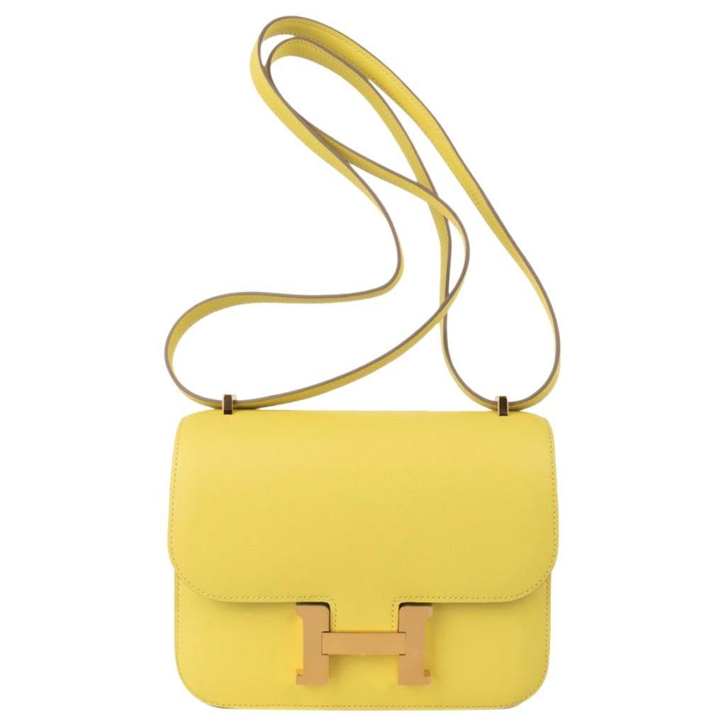 Hermes Constance 18 Bag Lime Swift Gold Hardware Rare