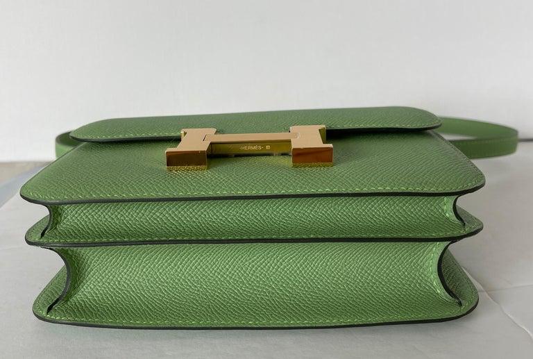 Women's or Men's Hermes Constance 18cm Criquet  Epsom Gold Hardware Bag For Sale