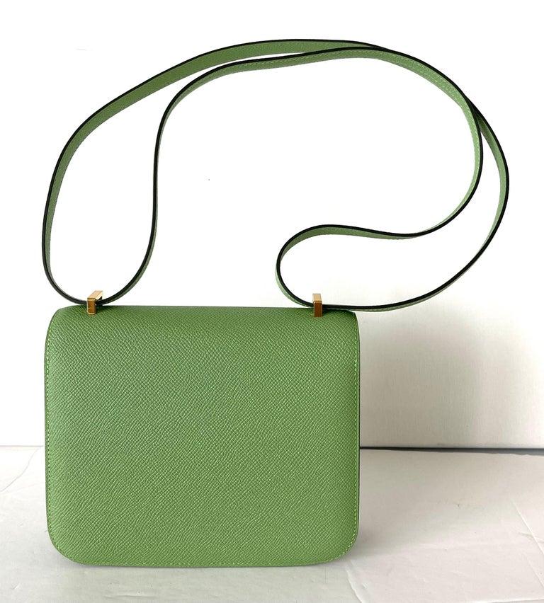 Hermes Constance 18cm Criquet  Epsom Gold Hardware Bag For Sale 1