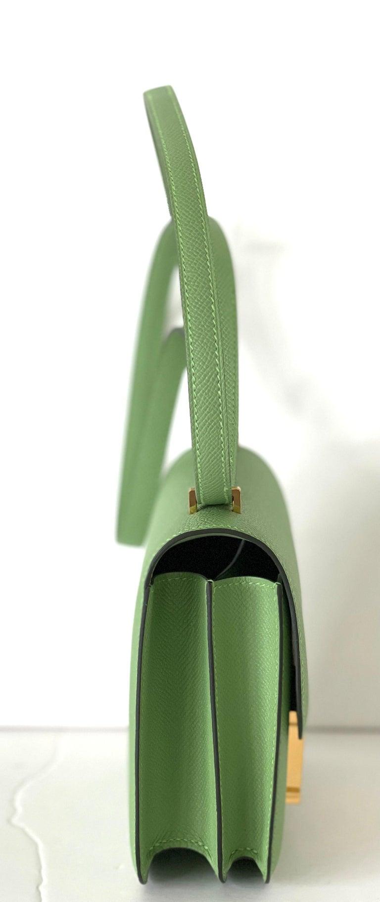 Hermes Constance 18cm Criquet  Epsom Gold Hardware Bag For Sale 2
