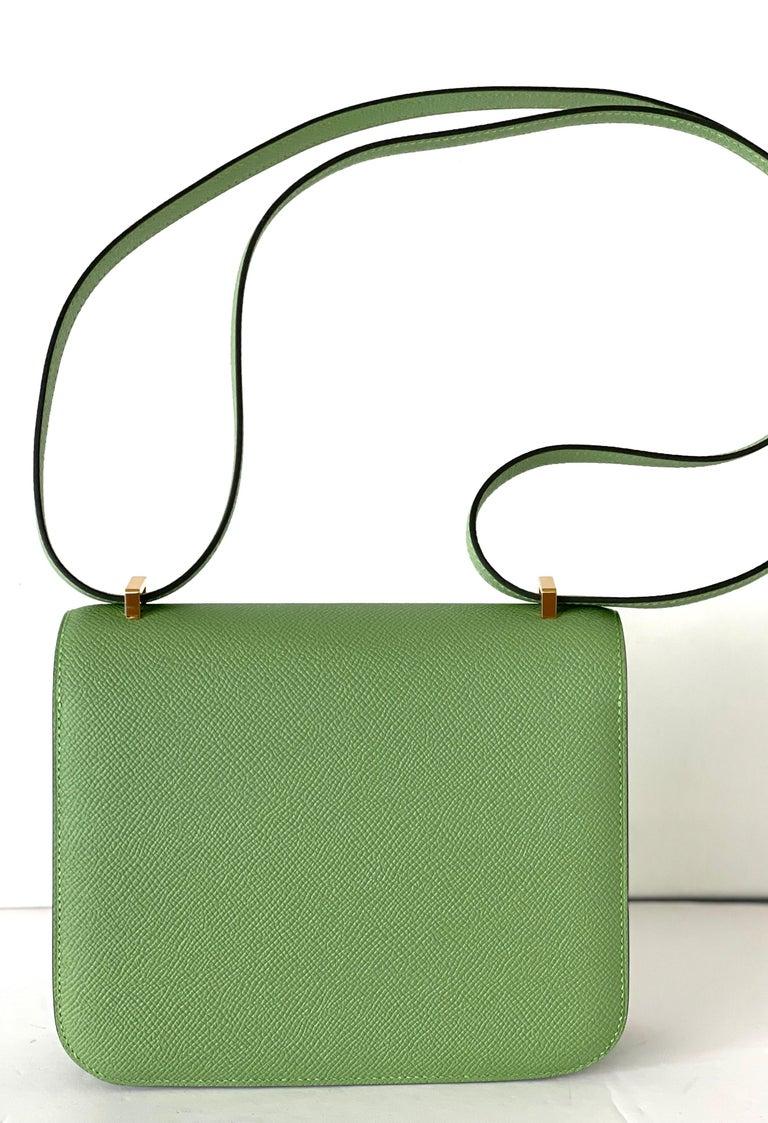 Hermes Constance 18cm Criquet  Epsom Gold Hardware Bag For Sale 3