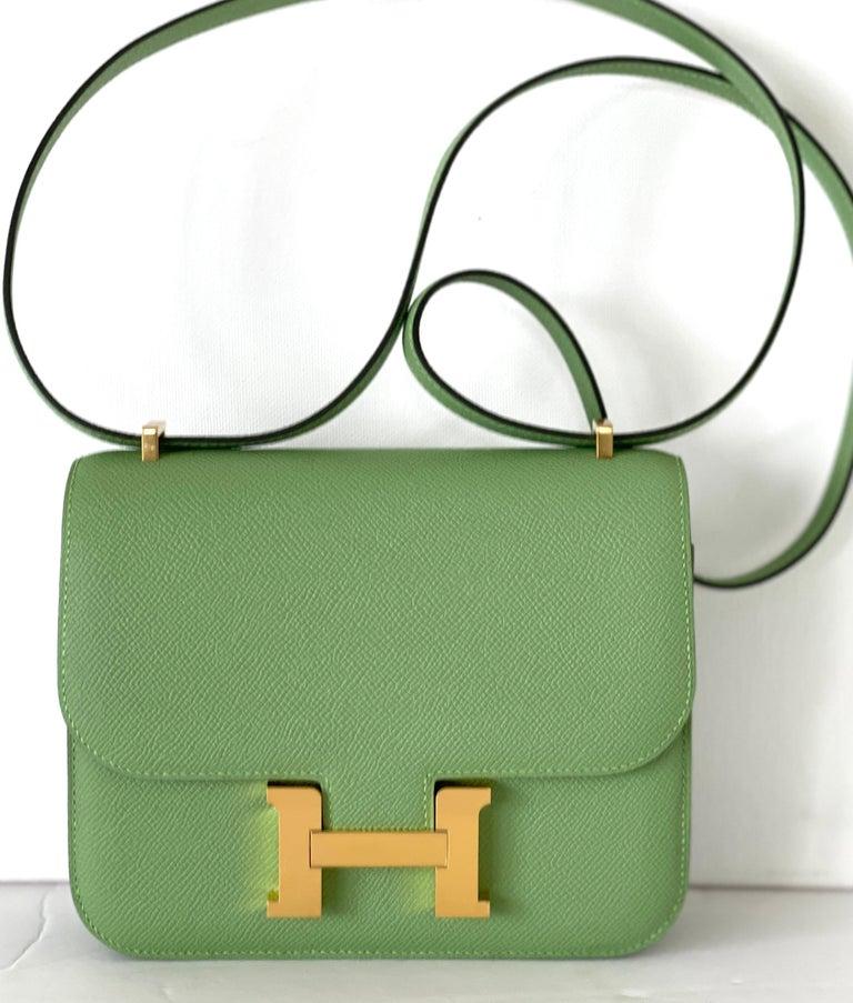 Hermes Constance 18cm Criquet  Epsom Gold Hardware Bag For Sale 4