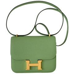 Hermes Constance 18cm Criquet  Epsom Gold Hardware Bag