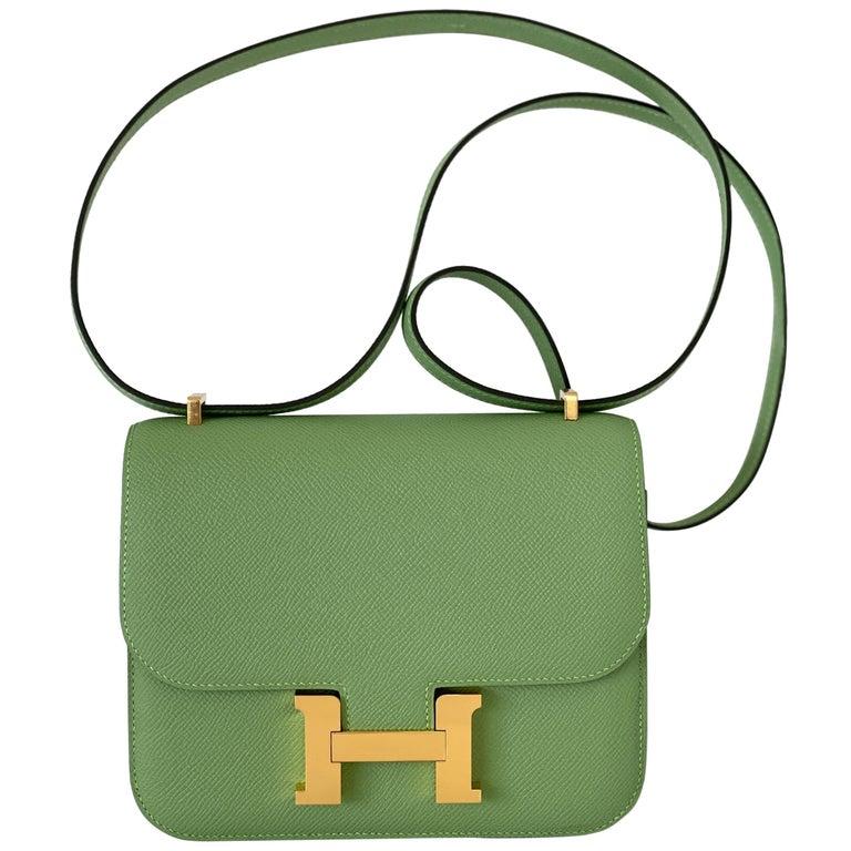 Hermes Constance 18cm Criquet  Epsom Gold Hardware Bag For Sale