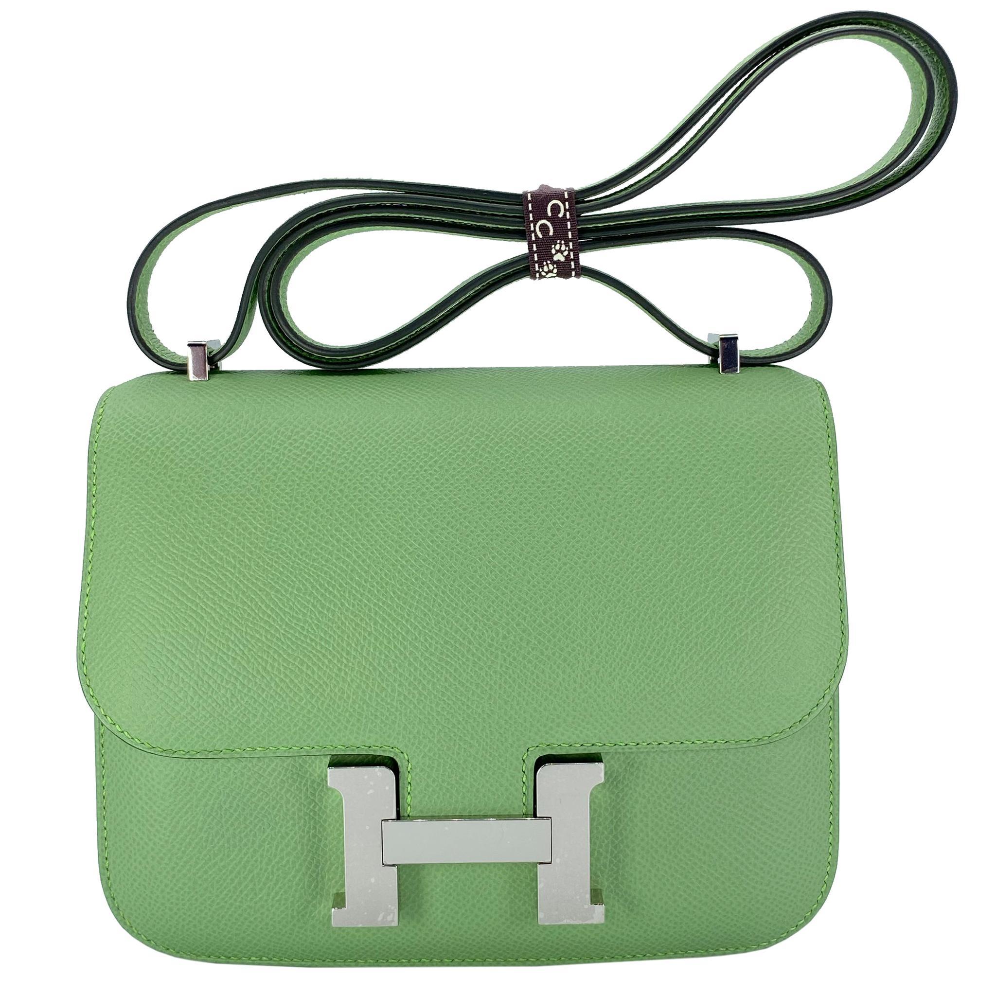 Hermès Constance 18cm Vert Criquet Epsom Leather Palladium Hardware