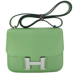 Hermès Constance 18cm Vert Criquet Epsom Leather Palladium Hardware