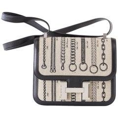 Hermes Constance 24 De Camp Dechainee Toile Limited Edition Black Swift Bag