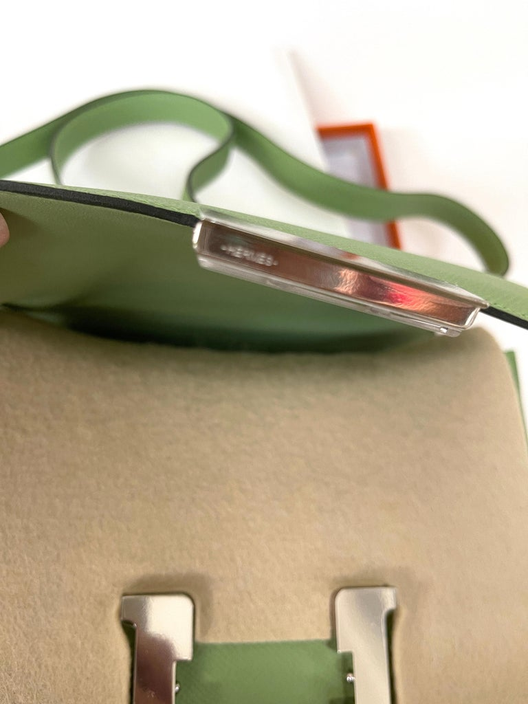 Hermes Constance 24cm Criquet  Epsom Palladium Bag In New Condition For Sale In Delray Beach, FL