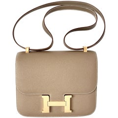 Hermes Constance 24cm Etoupe Epsom Gold