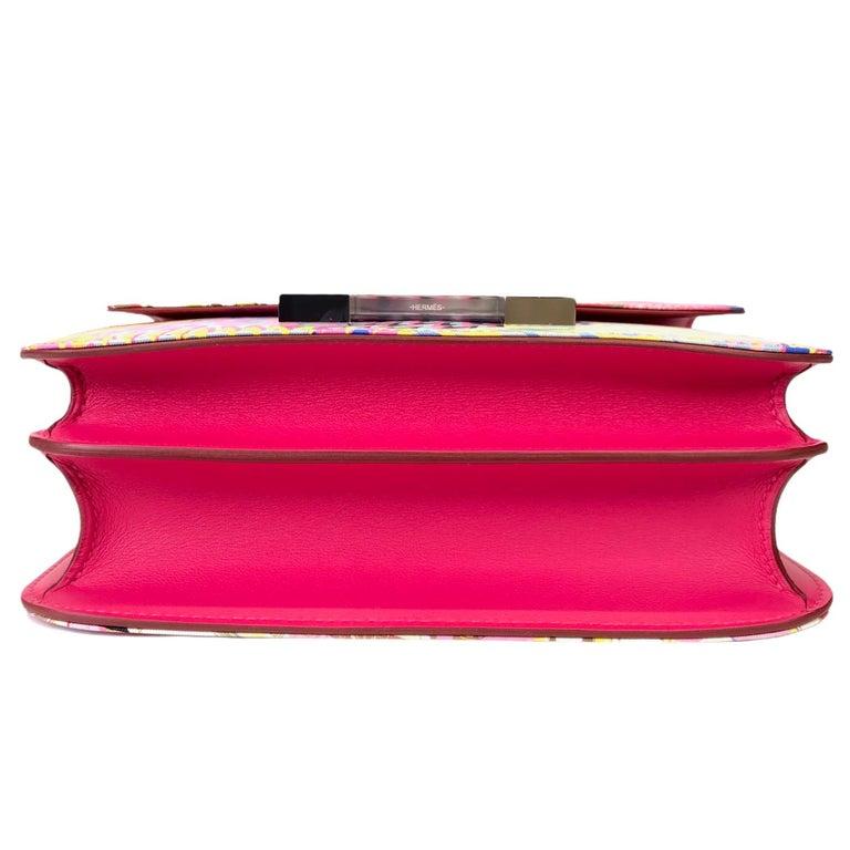 """1stdibs Exclusives Hermès Constance 24cm """"Marble"""" Silk Palladium Hardware 2"""