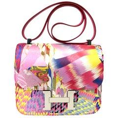 """1stdibs Exclusives Hermès Constance 24cm """"Marble"""" Silk Palladium Hardware"""