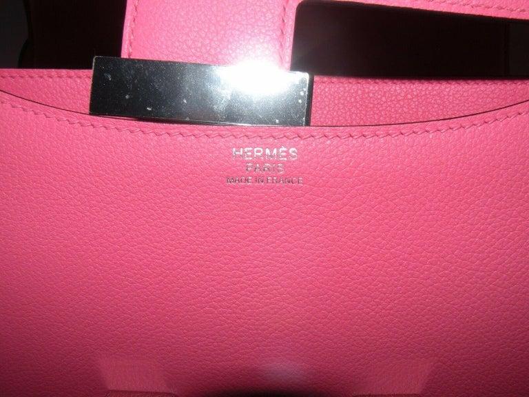 Women's or Men's Hermes Constance 24cm Rose Azalee Pink Palladium