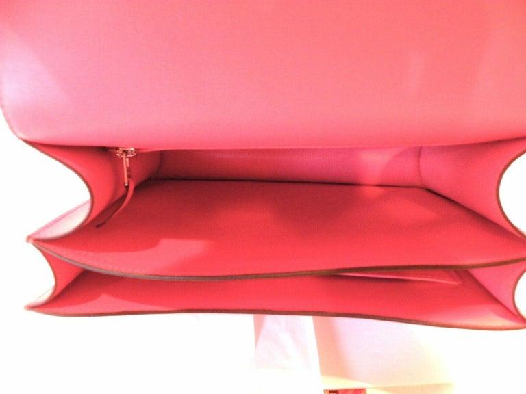 Hermes Constance 24cm Rose Azalee Pink Palladium 1