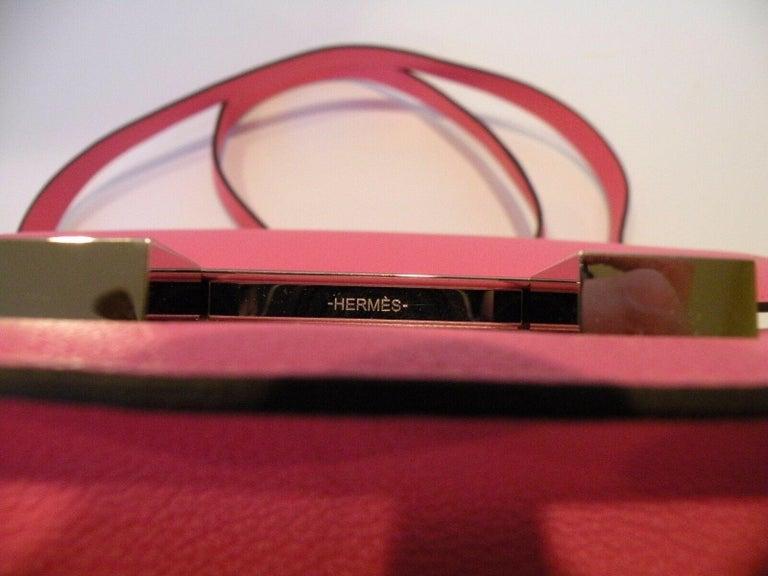 Hermes Constance 24cm Rose Azalee Pink Palladium 2