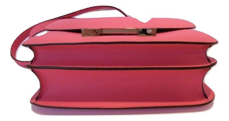Hermes Constance 24cm Rose Azalee Pink Palladium 3