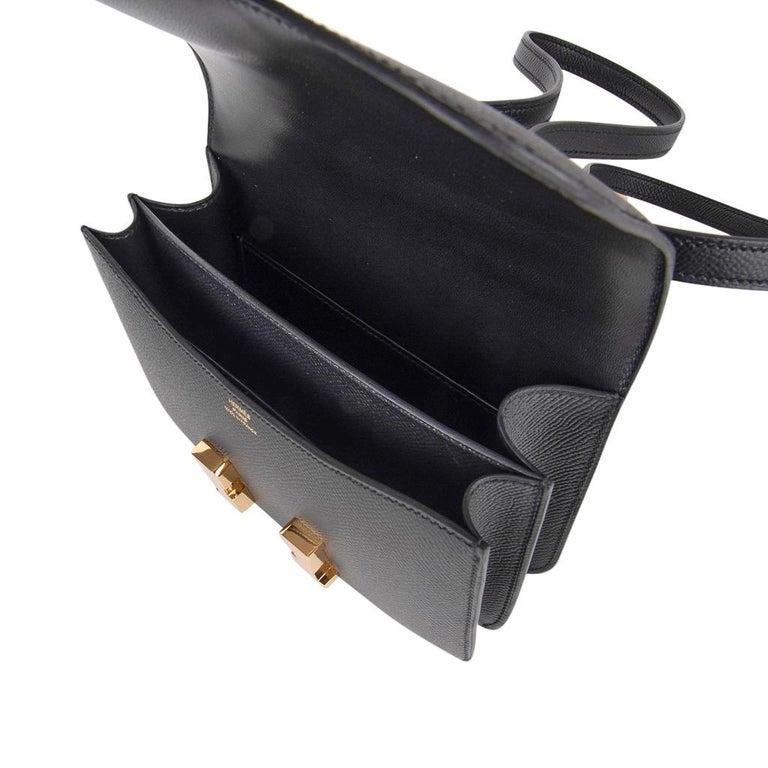 Hermes Constance Bag 18 Black Epsom Gold Hardware New w/ Box For Sale 6