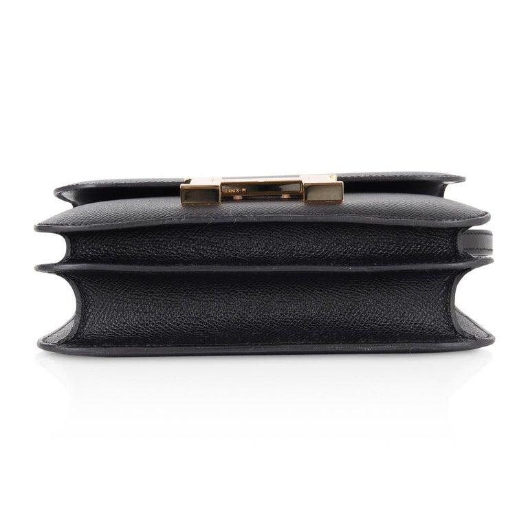 Hermes Constance Bag 18 Black Epsom Gold Hardware New w/ Box For Sale 7