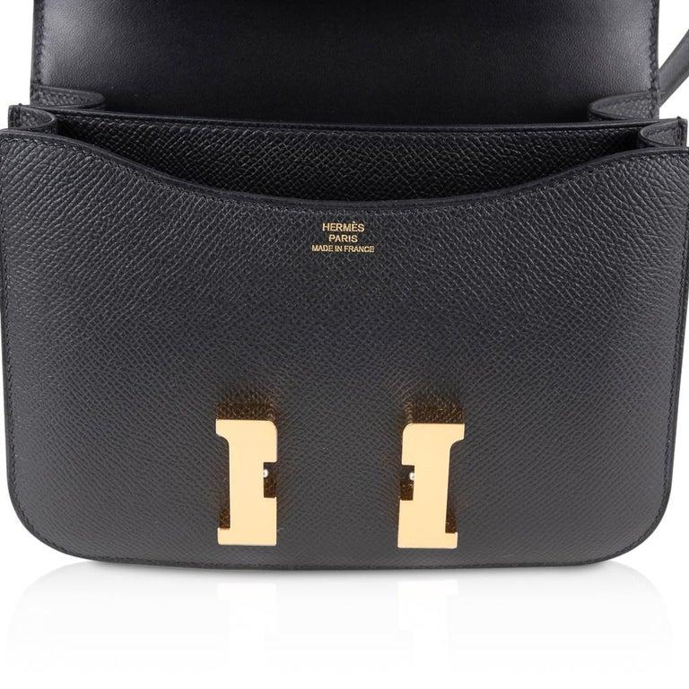 Hermes Constance Bag 18 Black Epsom Gold Hardware New w/ Box For Sale 5