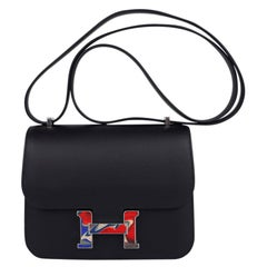 Hermes Constance Bag 18 Marbled Buckle Black Swift Limited Edition New / Box