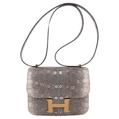 Hermes Constance Bag 18 Ombre Lizard Gold Hardware New w/ Box