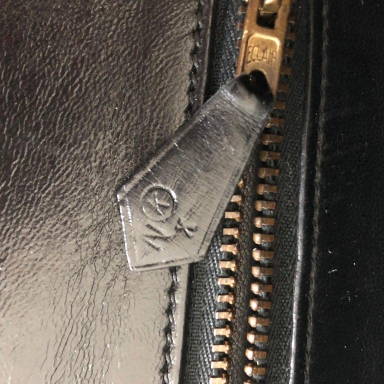 Hermes Constance Bag 23cm Black Box Leather Vintage 80s  For Sale 14
