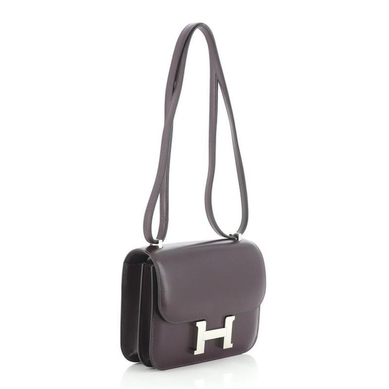 Hermes Constance Bag Box Calf 18 In Good Condition For Sale In New York, NY