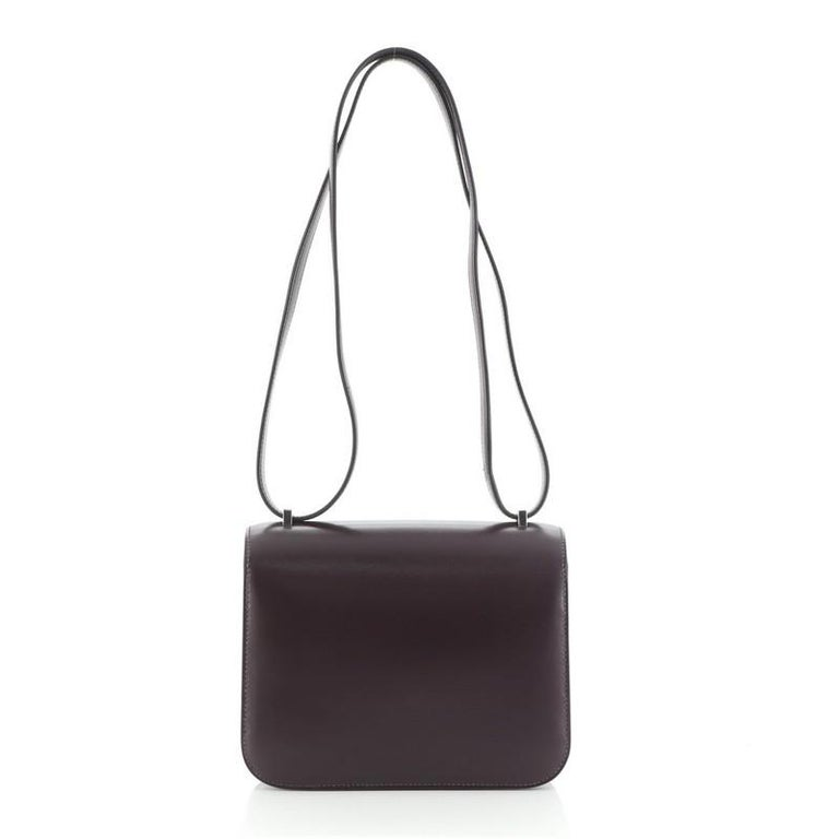 Women's or Men's Hermes Constance Bag Box Calf 18 For Sale