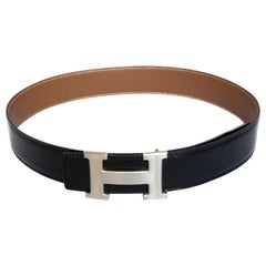 Hermès Constance Belt Metal Brushed H  Buckle