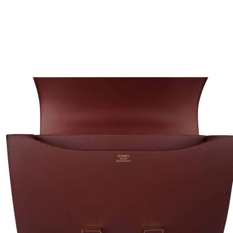 Hermes Constance Cartable Bag Limited Edition Rouge H Sombrero For Sale 5