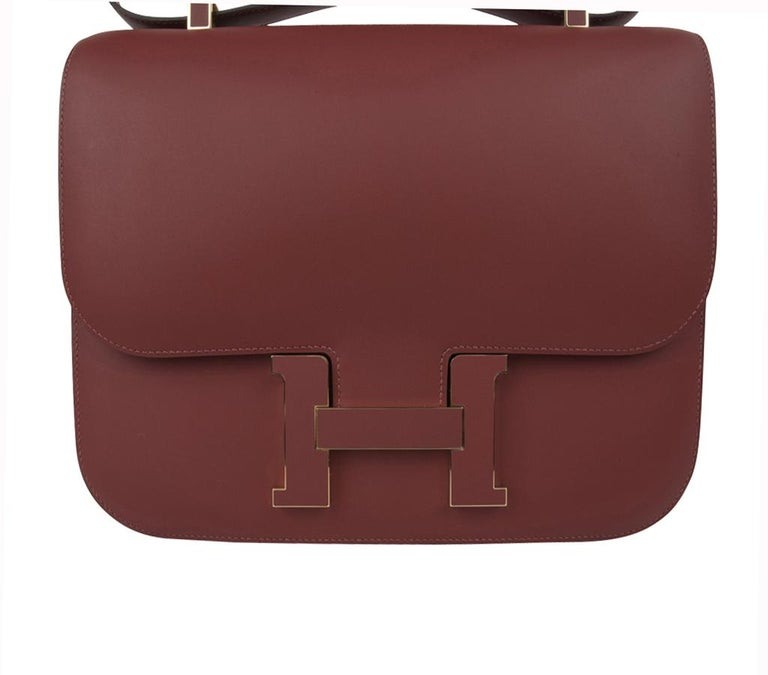 Hermes Constance Cartable Bag Limited Edition Rouge H Sombrero For Sale 1