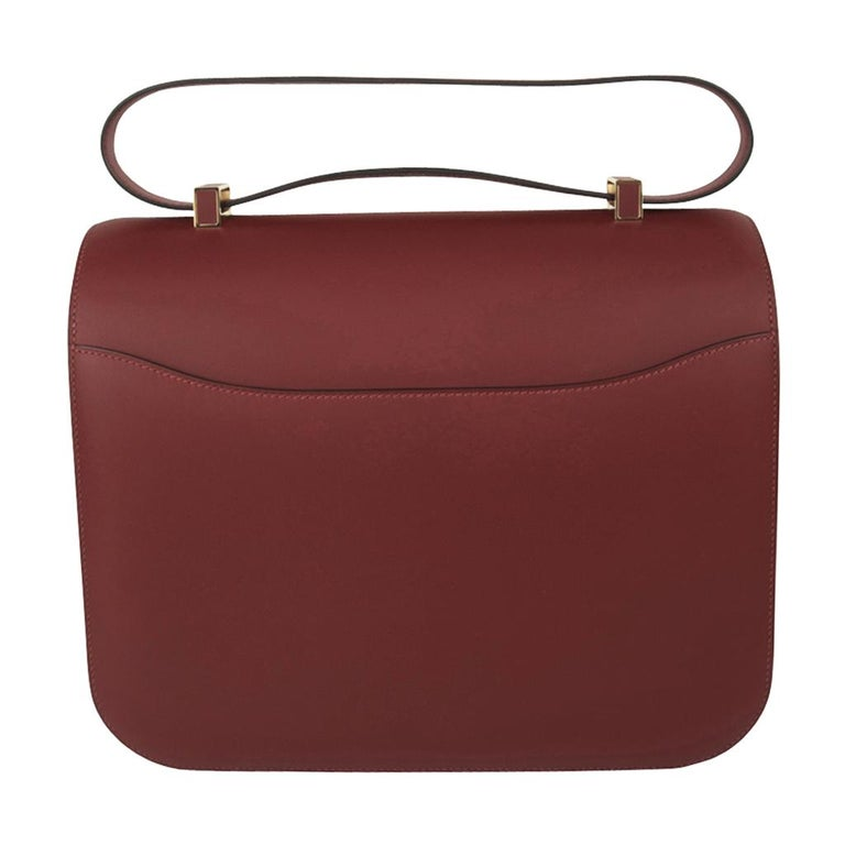 Hermes Constance Cartable Bag Limited Edition Rouge H Sombrero For Sale 2
