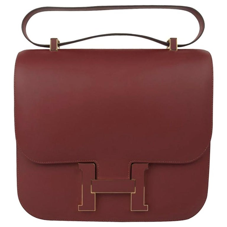 Hermes Constance Cartable Bag Limited Edition Rouge H Sombrero For Sale